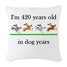 60 birthday dog years 1 Woven Throw Pillow