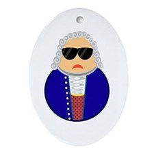 I'll Be Bach! Oval Ornament