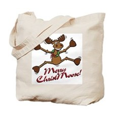 Merry Christmoose [jumping] Tote Bag