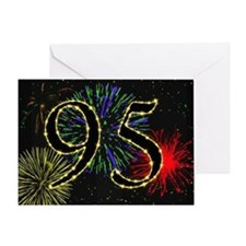 95th birthday party fireworks Greeting Card
