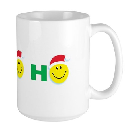 Ho Ho Ho Smiley Face: Large Mug
