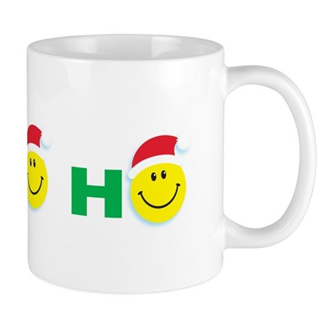 Ho Ho Ho Smiley Face: Mug