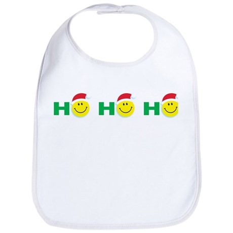 Ho Ho Ho Smiley Face: Bib