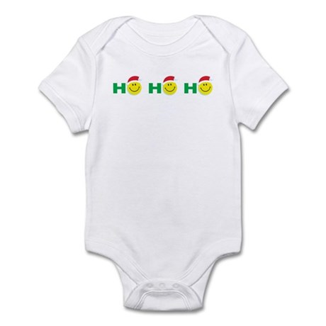 Ho Ho Ho Smiley Face: Infant Bodysuit
