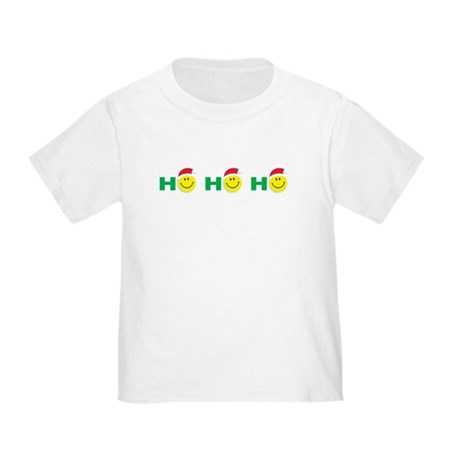Ho Ho Ho Smiley Face: Toddler T-Shirt