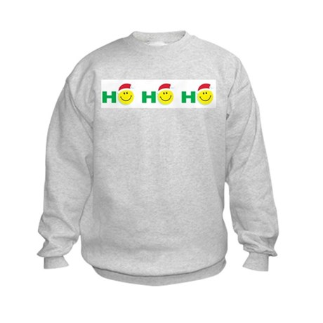 Ho Ho Ho Smiley Face: Kids Sweatshirt