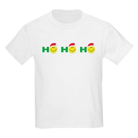 Ho Ho Ho Smiley Face: Kids T-Shirt