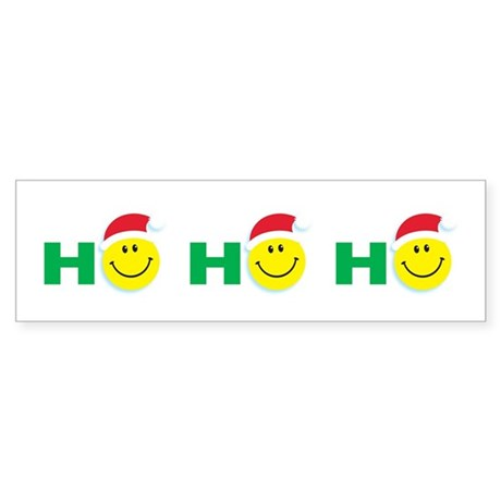 Ho Ho Ho Smiley Face: Bumper Sticker
