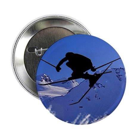 "Ski 2.25"" Button (10 pack)"