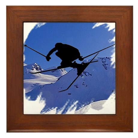 Ski Framed Tile