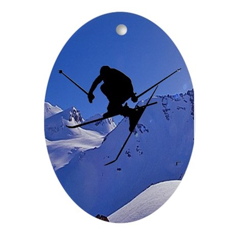 Ski Oval Ornament