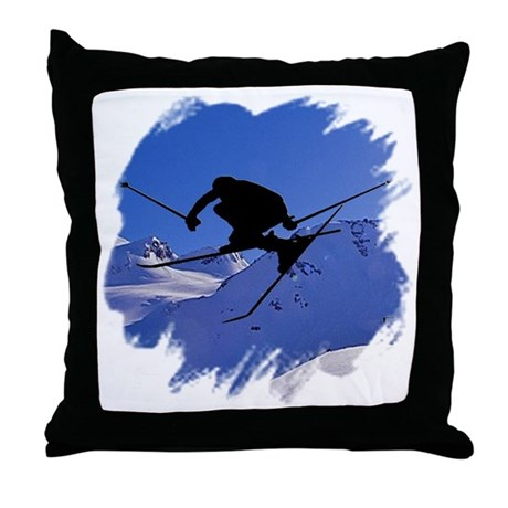 Ski Throw Pillow