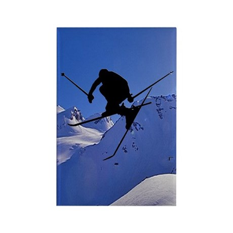 Ski Rectangle Magnet (100 pack)