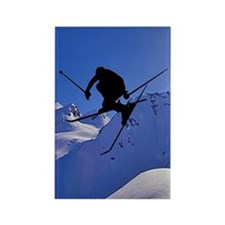 Ski Rectangle Magnet (10 pack)