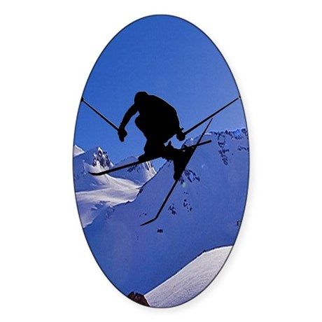 Ski Oval Sticker