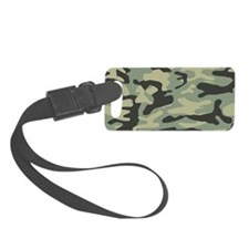 Green army camo pattern Luggage Tag