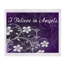 Believe In Angels Throw Blanket