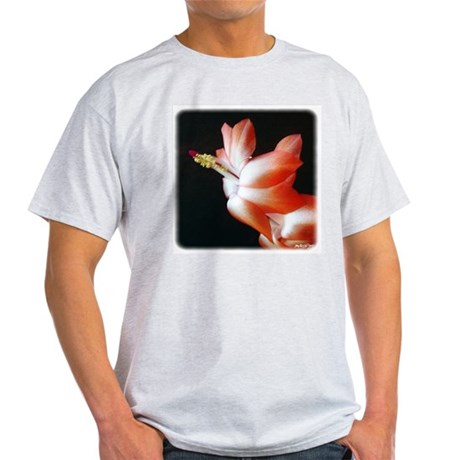 Orange Christmas Cactus Ash Grey T-Shirt