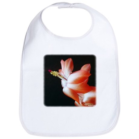 Orange Christmas Cactus Bib