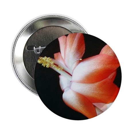 Orange Christmas Cactus Button