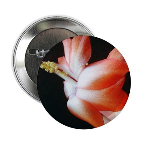 Orange Christmas Cactus 2.25&quot; Button (10 pack)