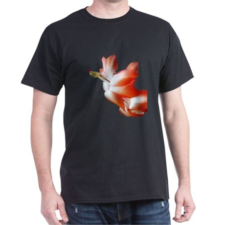 Orange Christmas Cactus Dark T-Shirt