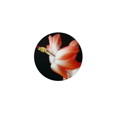 Orange Christmas Cactus Mini Button