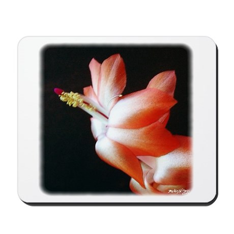 Orange Christmas Cactus Mousepad