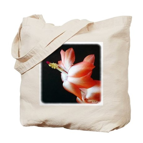 Orange Christmas Cactus Tote Bag