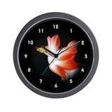 Orange Christmas Cactus Wall Clock