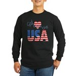 God Bless the USA Long Sleeve Dark T-Shirt