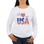 God Bless the USA Women's Long Sleeve T-Shirt