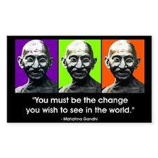 Be the change... Rectangle Stickers