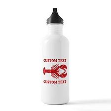 CUSTOM TEXT Lobster Water Bottle