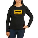 Both Ways Women's Long Sleeve Dark T-Shirt