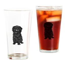 Affenpinscher (blk) Drinking Glass