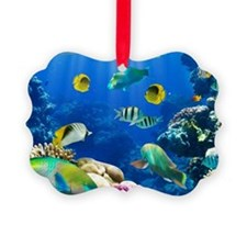 Caribbean paradise, in the sea Ornament