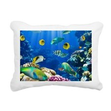 Caribbean paradise, in t Rectangular Canvas Pillow