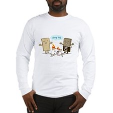 Flaming Marshmallow - Group Hug! Long Sleeve T-Shi