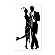 Vintage 1920s Couple Decal