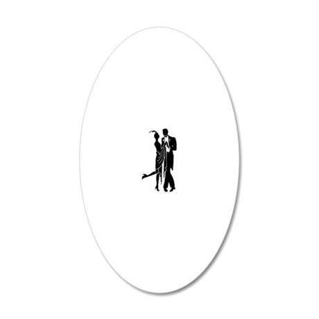 Vintage 1920s Couple 20x12 Oval Wall Decal