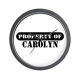 Property of Carolyn Wall Clock