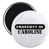 "Property of Caroline 2.25"" Magnet (100 pack)"