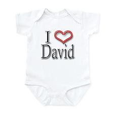 I Heart David Infant Bodysuit