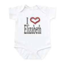 I Heart Elizabeth Infant Bodysuit