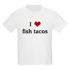 I Love fish tacos Kids T-Shirt