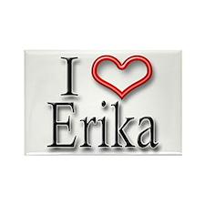 I Heart Erika Rectangle Magnet