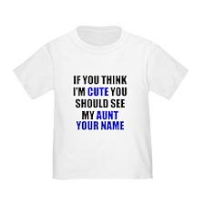 Cute Aunt (Custom) T-Shirt