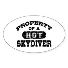 Property of a Hot Skydiver Decal