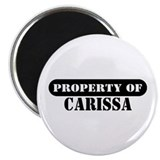 "Property of Carissa 2.25"" Magnet (100 pack)"